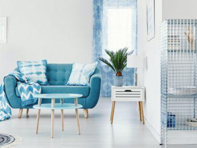 Turquoise apartment interior design